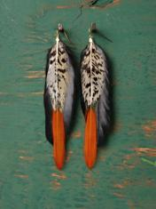 Neo tribal feather earrings go mainstream