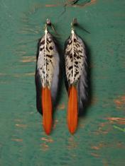 Neo tribal feather earrings go mainstream