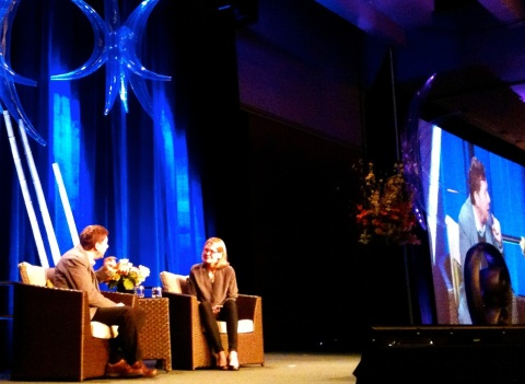 Wisdom 2.0 Summit with Facebook director of People interviewing bestselling author Eckhart Tolle