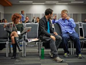 Posting content for client C2SV festival -- the new SXSW of Silicon Valley. That's one of the speakers I helped promote, Internet and social media guru Robert Scoble, to my left.