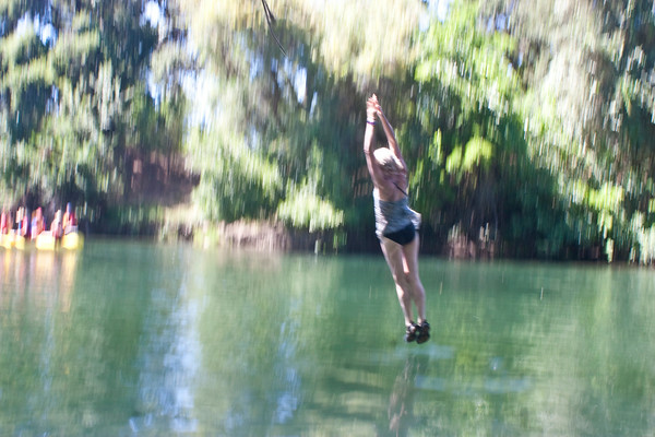 Jumping into the river of bliss!