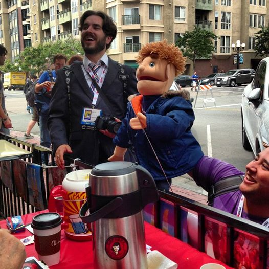 Puppets like coffee too.