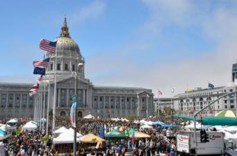 15,000 packed EarthDay San Francisco at city hall.