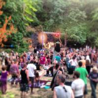 Music festival at Jackson Wellsprings, Oregon