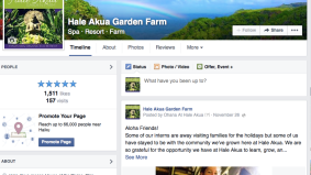 Rebranded Hale Akua Garden Farm social media and fans tripled in 2 months.