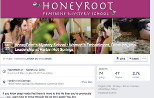 Honeyroot retreat -- guided social media rebranding and social marketing/event promotion.