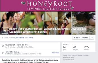 Honeyroot retreat -- guided social media rebranding and social marketing/event promotion.