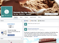 Consulting with event promotion, social media rebranding for Osmosis Spa Sanctuary